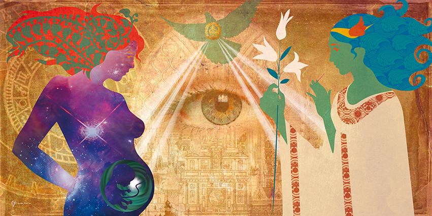 L'Annonciation ou la Vierge du Cosmos BD